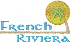French Riviera embroidery design