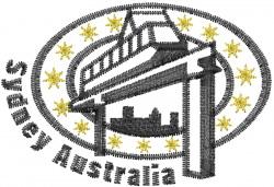 Sydney Australia embroidery design