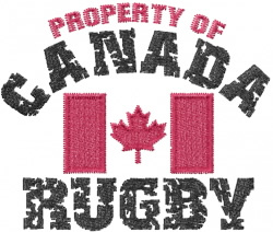 Canadian Rugby embroidery design