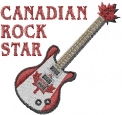 Machine Embroidery Design For Rock Star