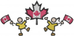Canadian People embroidery design