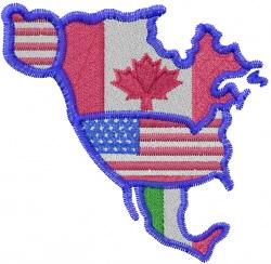 North America embroidery design