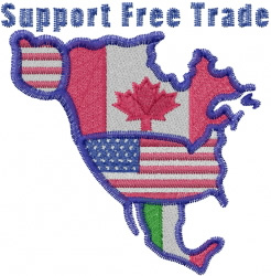 Free Trade embroidery design