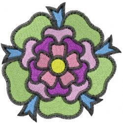 British Flower embroidery design