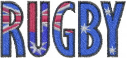 Australian Rugby embroidery design