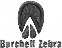 Burchells Zebra embroidery design