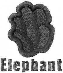 Elephant Print embroidery design