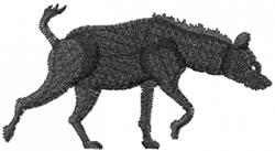 Hyena embroidery design