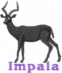 Impala embroidery design