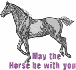 Horse With You embroidery design