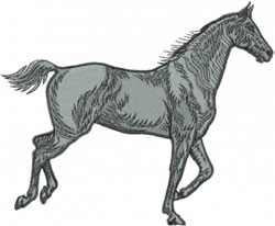 Running, Horse embroidery design