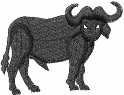 Water Buffalo embroidery design