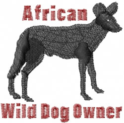 Wild Dog Owner embroidery design