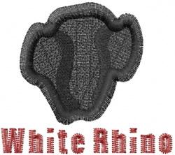 White Rhino embroidery design