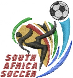South Africa Soccer Embroidery Designs Machine Embroidery