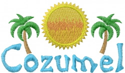 Cozumel embroidery design