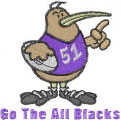 All Blacks embroidery design