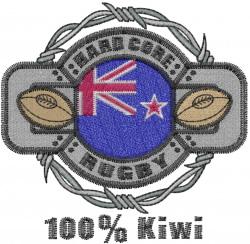 100% Kiwi embroidery design