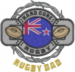 Rugby Dad embroidery design