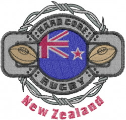 New Zealand Rugby embroidery design