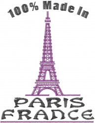 Made In Paris embroidery design