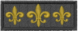 Fleur De Lis Rectangle embroidery design