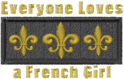 A French Girl embroidery design