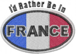 Rather Be In France embroidery design