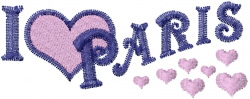 Paris Hearts embroidery design