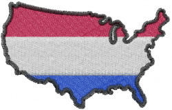 French American embroidery design