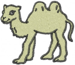 Camel embroidery design