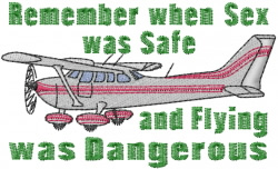 Dangerous Flying embroidery design