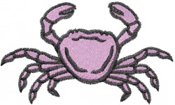 Pink Crab embroidery design