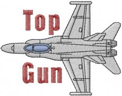 Top Gun embroidery design
