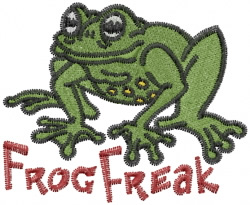 Frog Freak embroidery design