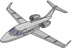 Lear Jet embroidery design
