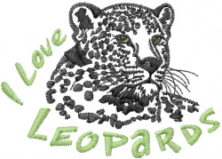 Love Leopards embroidery design