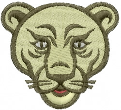Lioness embroidery design
