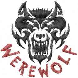 Werewolf embroidery design