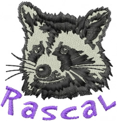 Rascal Racoon embroidery design