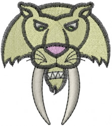 Saber Tooth embroidery design