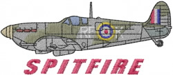 Spitfire embroidery design