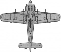 Fighter Plane embroidery design