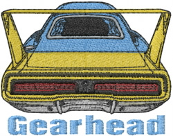 Gearhead embroidery design