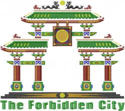 Forbidden City embroidery design