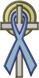 Awareness Ribbon embroidery design