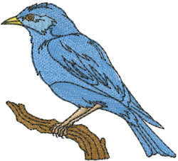 Bluebird embroidery design