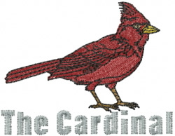 The Cardinal embroidery design