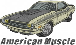 American Muscle embroidery design