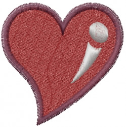 Full Heart embroidery design